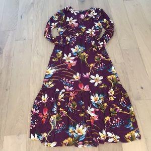 Eci floral maxi dress